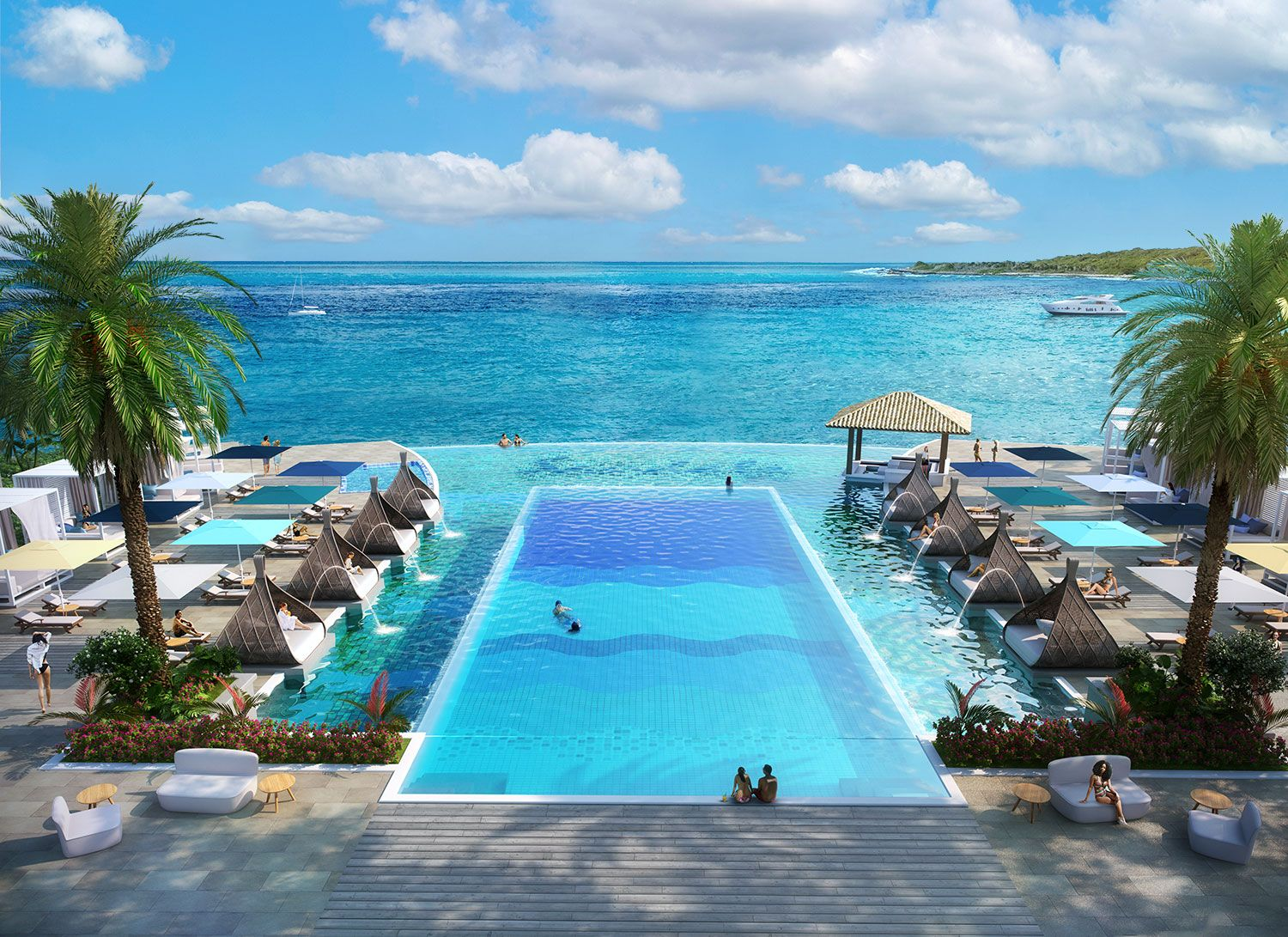 Sandals-Curacao-Pool